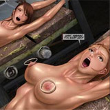 Innocent young slave chicks get their tight holes fucked by big cocked monster. tags: bdsm art, big dick, naked girls, tits.