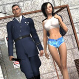Blonde toon babe and her lover trying their first bdsm fuck sessiom i nthe bedroom.